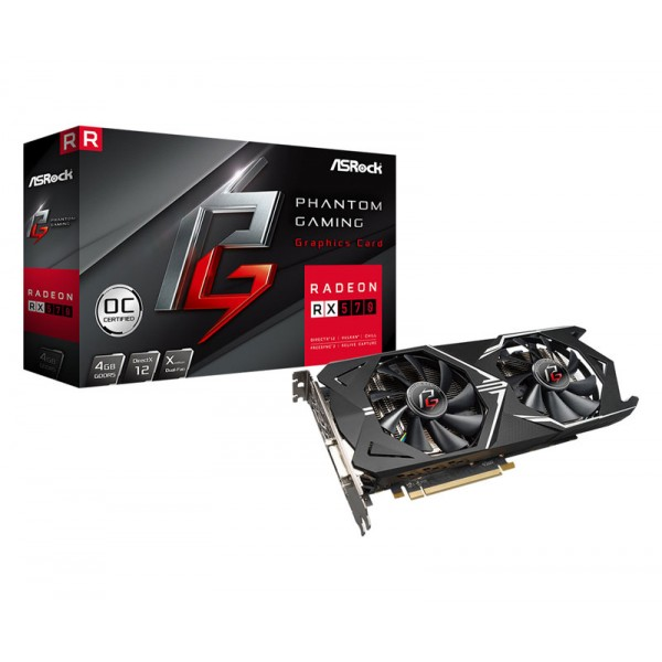 ASrock Phantom Gaming X AMD Radeon RX 570 OC 4GB GDDR5