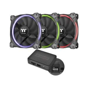Thermaltake Pack 3 Ventilateurs Riing 12 RGB LED Premium Edition