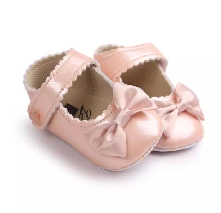 Chaussures Angela, Saumon, 6-12 Mois