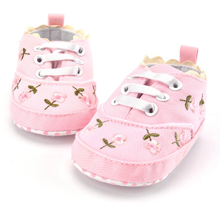 Chaussures New born, Rose, 7-12