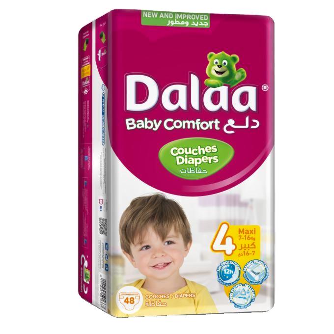 Dalaa Couches Bébé Taille 4 Maxi, 48 Unités