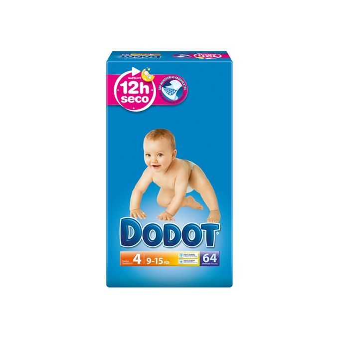 Dodot couches taille 4, 64 couches
