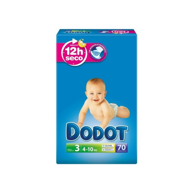 Dodot Couches,Taille 3 ( 4 – 10 Kg ),Pack 70 Couches
