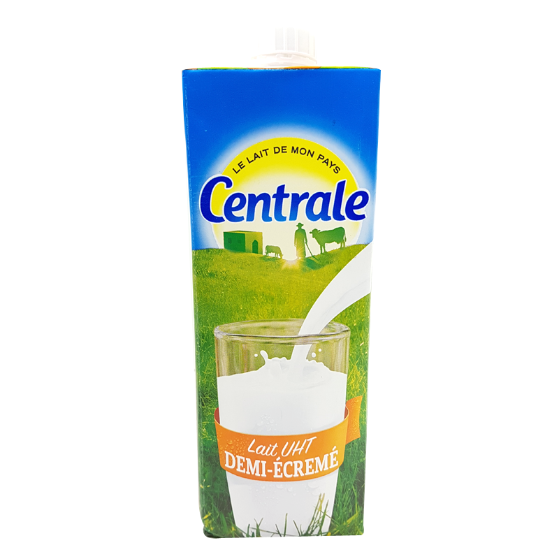 Lait Uht Demi Ecrèmé Centrale Laitière 1l