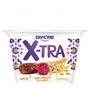 Danone X-TRA, Dattes framboise, 200g