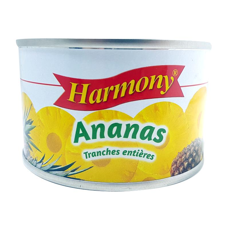 Ananas en Tranches Entières Harmony 200g