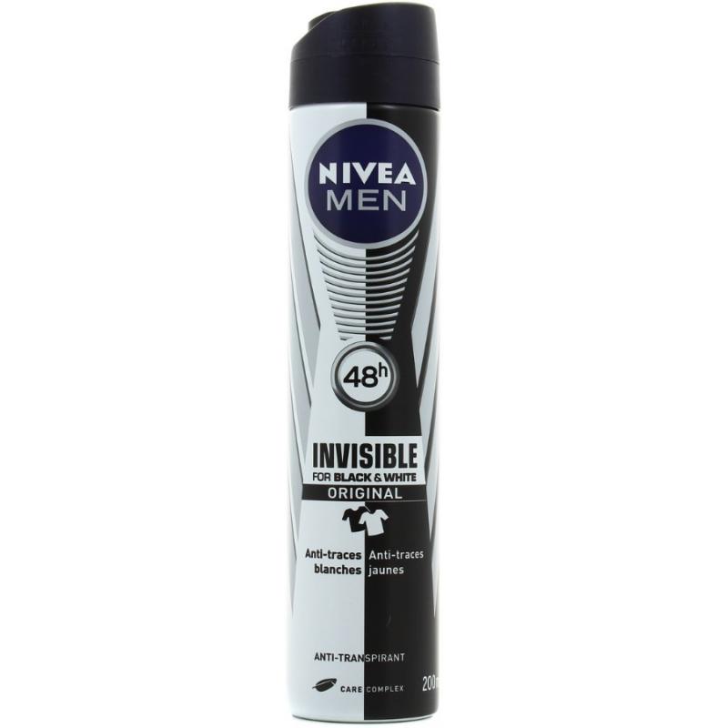 Déodorant Invisible Black and White Anti-Traces Nivea Men 200ml