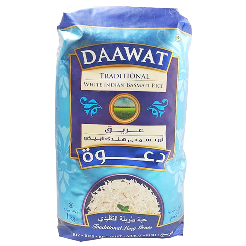 Riz Basmati Indien Traditionnel Long Grain Daawat 1kg