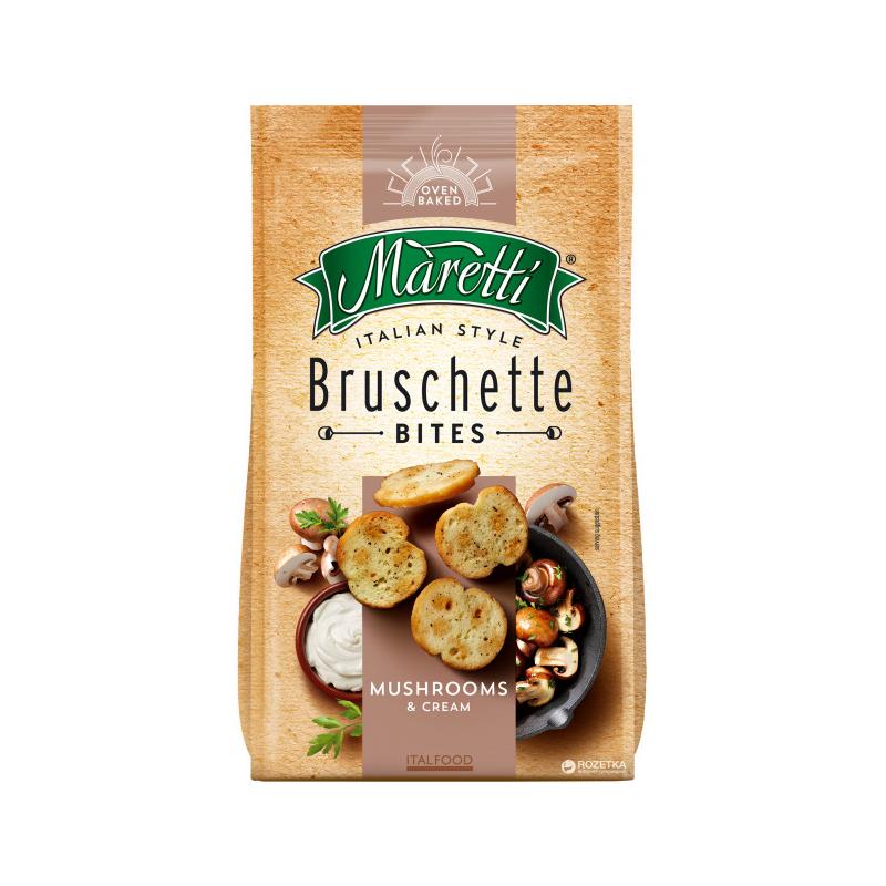 Bouchées de Pain Saveur Champignon et Crème Bruschette Maretti 70g