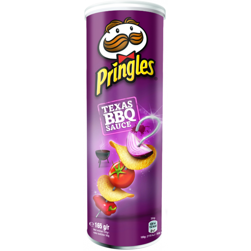Chips Barbecue Pringles 165g