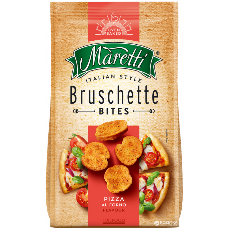 Bouchées de Pain Saveur Pizza Bruschette Maretti 70g