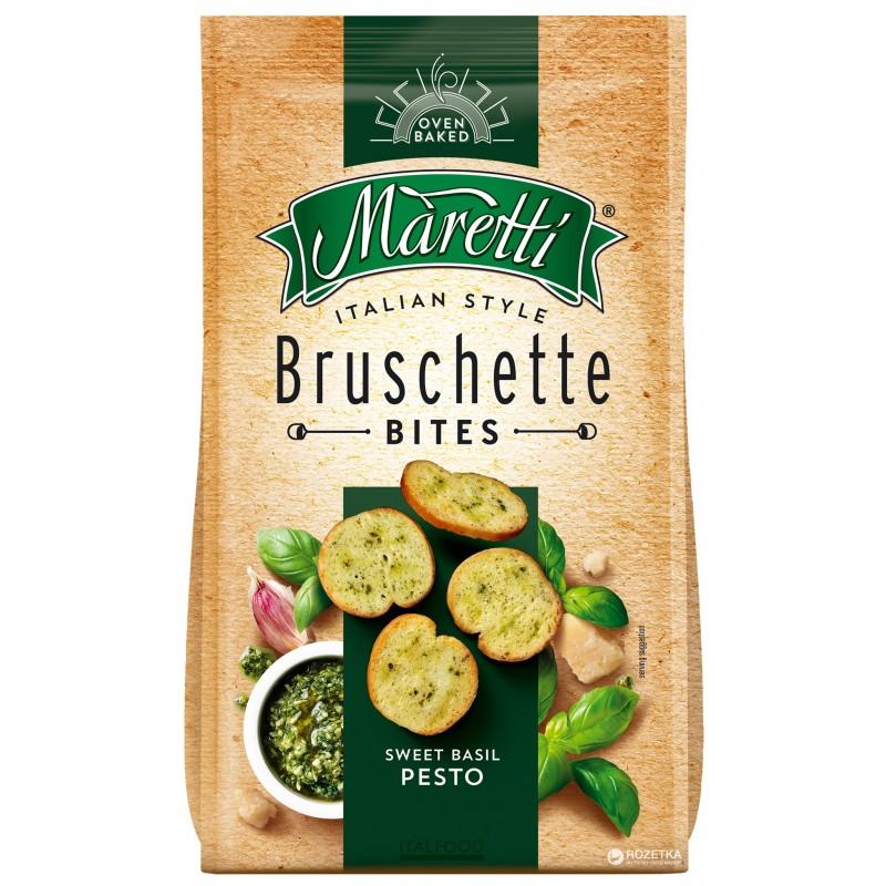 Bouchées de Pain Saveur Basilic et Pesto Bruschette Maretti 70g