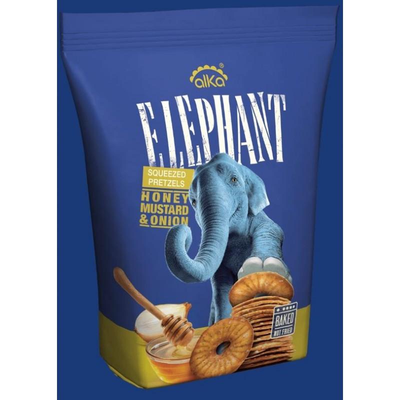 ELEPHANT SQUEEZELS Bretzels moutarde au miel et oignon 180G
