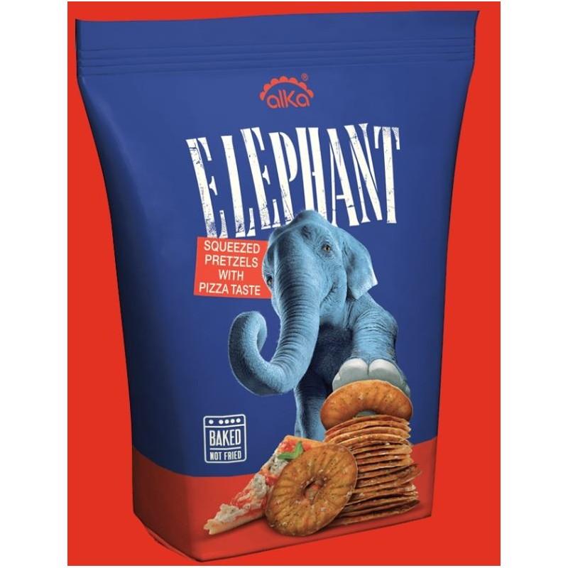 ELEPHANT SQUEEZELS BRETZELS goût de pizza 180G