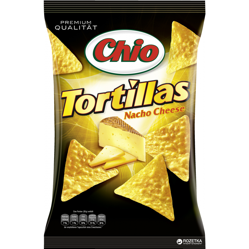 Tortillas Nacho Cheese Chio 125g