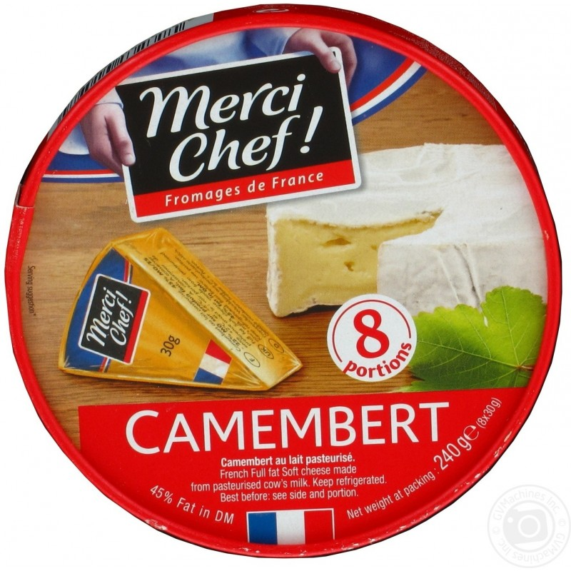 Camembert en Portions 45% Matières Grasses Merci Chef! 240g