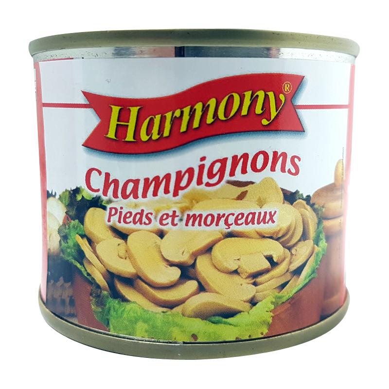 Champignons Pieds et Morceaux Harmony 125g