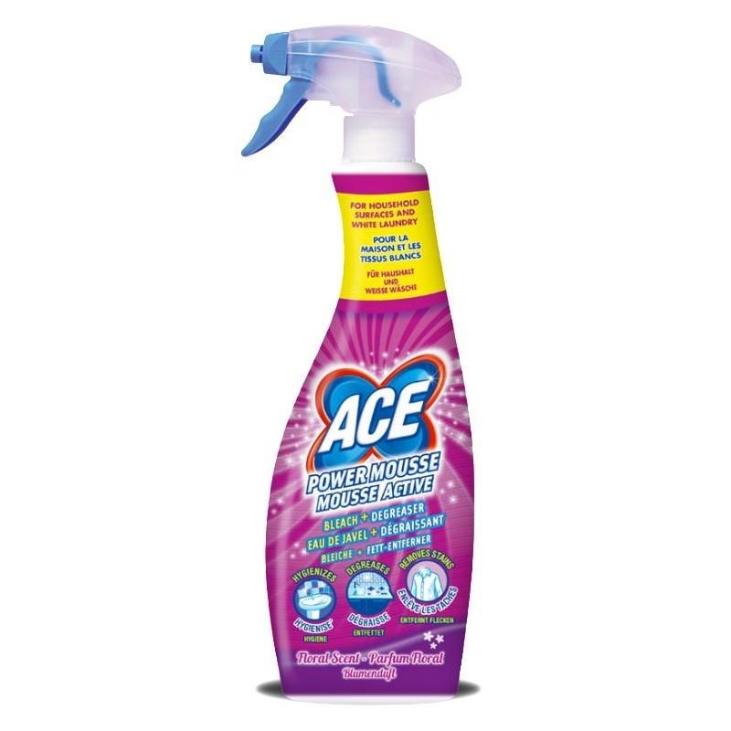 Spray Mousse Active Parfum Fleurs eau de javel et dégraissant ACE 750ml