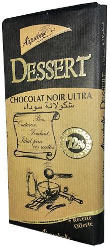 Chocolat pour Dessert 72% Aiguebelle 175g
