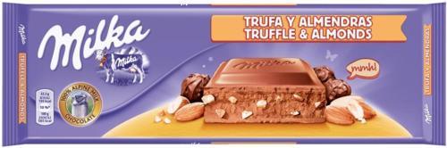 Chocolat au Lait Fourré à la Truffe et Amandes Milka 300g