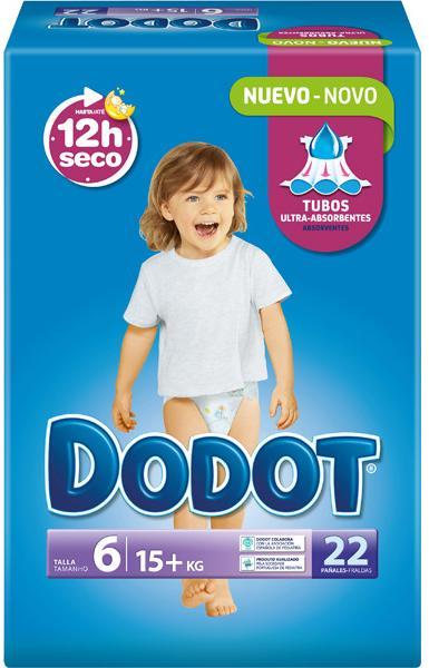 Couches Dodot T6 (17 - 28kg) - 22 unités