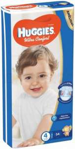 50 Couches Large Huggies T4 (8 - 14kg)