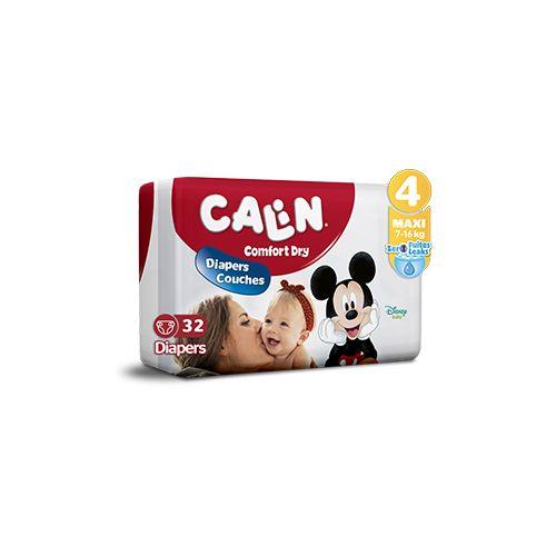 Calin Couches Bébés - Taille 4 Maxi (9 à 18 KG) - 32 couches