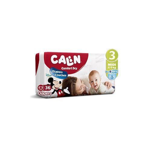 Calin Couches Bébés - Taille 3 Midi (5 à 9 KG) - 36 couches