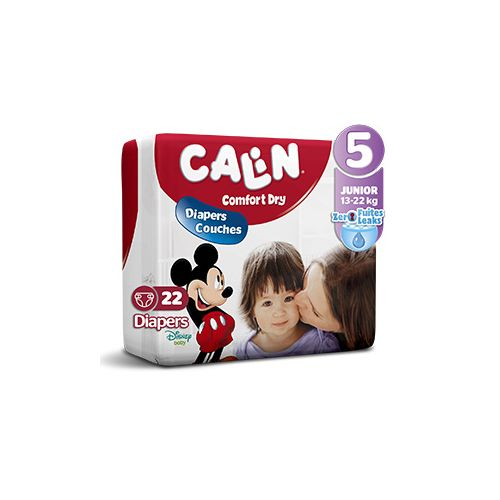 Calin Couches Bébés - Taille 5 Junior (15 à 28 KG) - 28 Couches