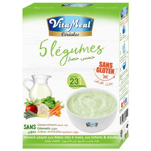 "Vitameal CÉRÉALES VITAMEAL ""5 Légumes"" SANS GLUTEN 200 gr"