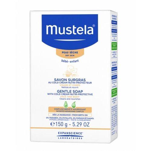 Mustela Savon Surgras au Cold Cream Nutri-Protecteur Pour l'hygiène de la peau sèche du bébé 150g