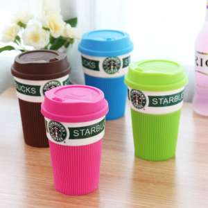 starbucks ceramic mug, rouge et vert, all, starbucks