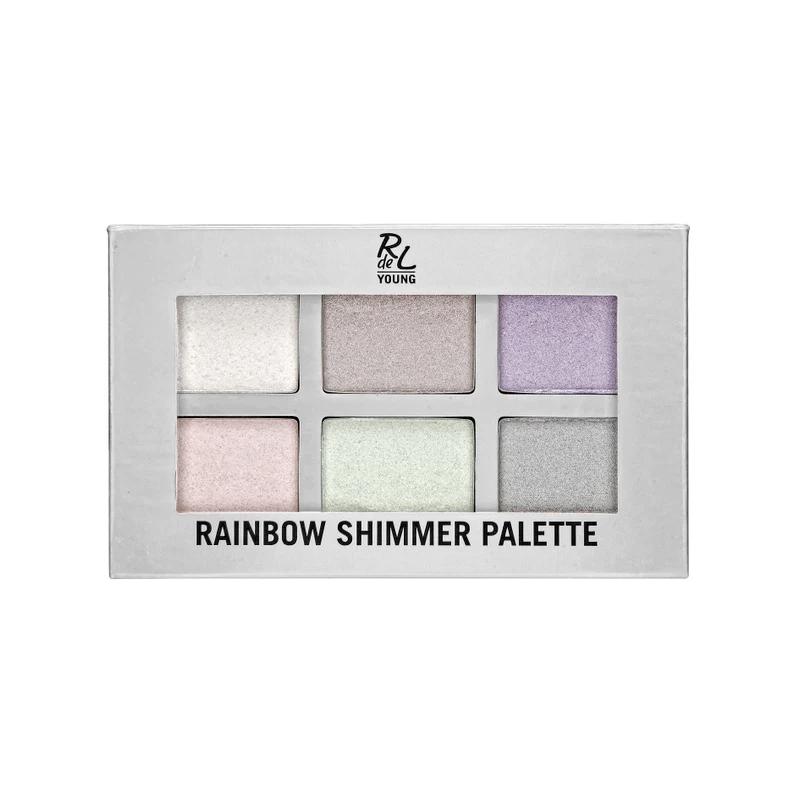 Rainbow shimmer palette