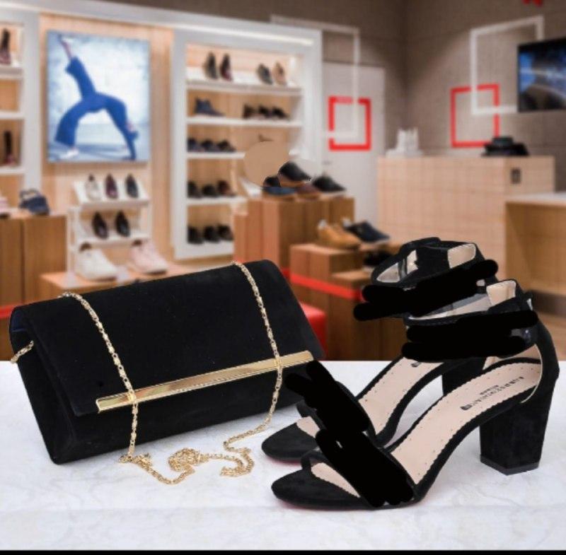 Set sac/sandale élégance, Noir, 38