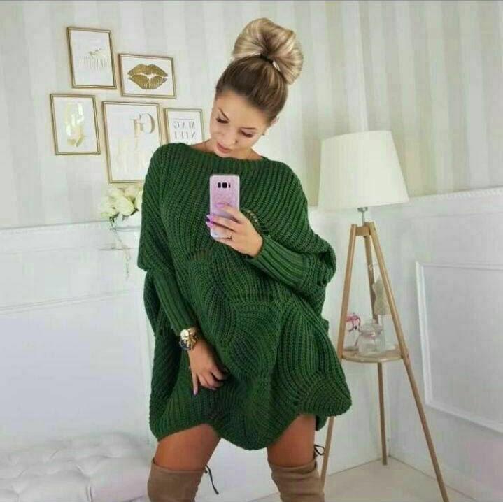 Tricot femme standard moderne, Vert, Standard