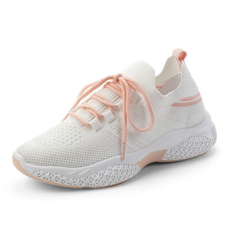 Mode femmes baskets 2020 été chaussure femme Harajuku anti-dérapant, Rose, 38