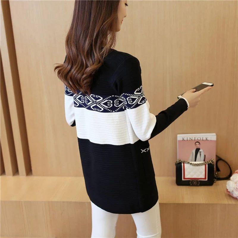 Long tricot slim, Noir, Standard