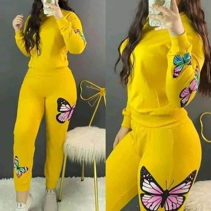 Tenue Femme Papillons, Jaune, L