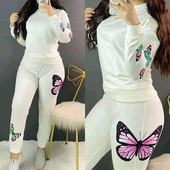 Tenue Femme Papillons, Blanc, S