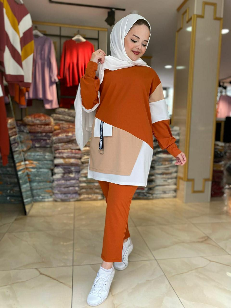 Survette femme longue made Turquie Manar, Orange, 42