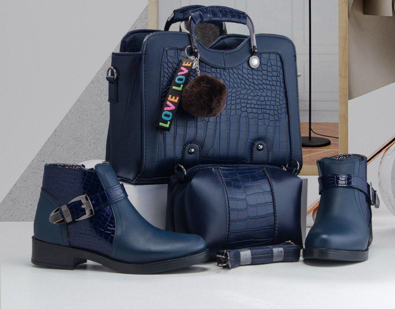 Set sac et botte Ima, Bleu, 38