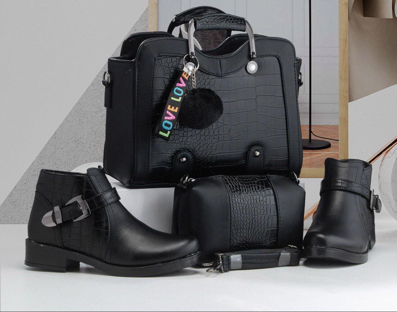 Set sac et botte Ima, Noir, 36
