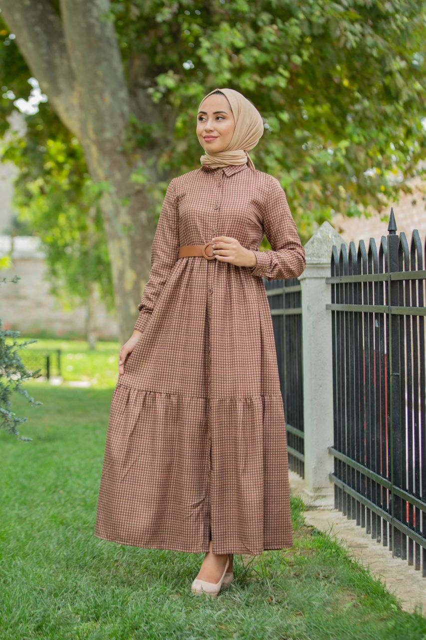 Robe princesse, Marron, 40
