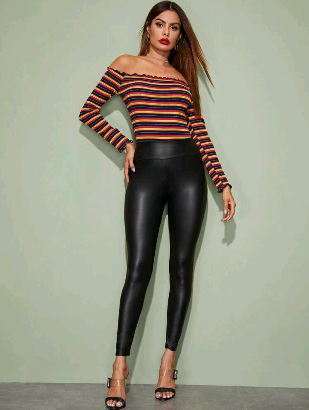 Pantalon en similicuir Quatro