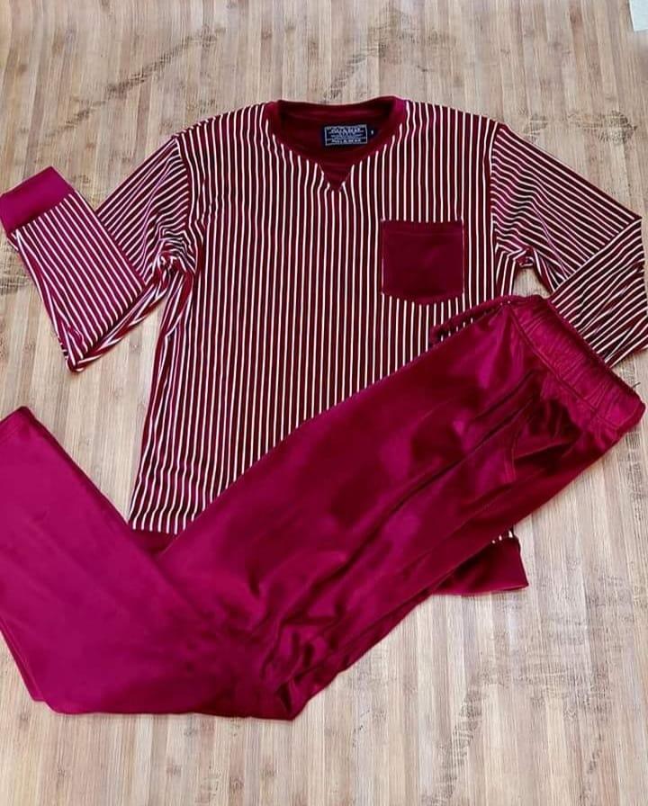 Pyjama Homme en velour, Grena, L